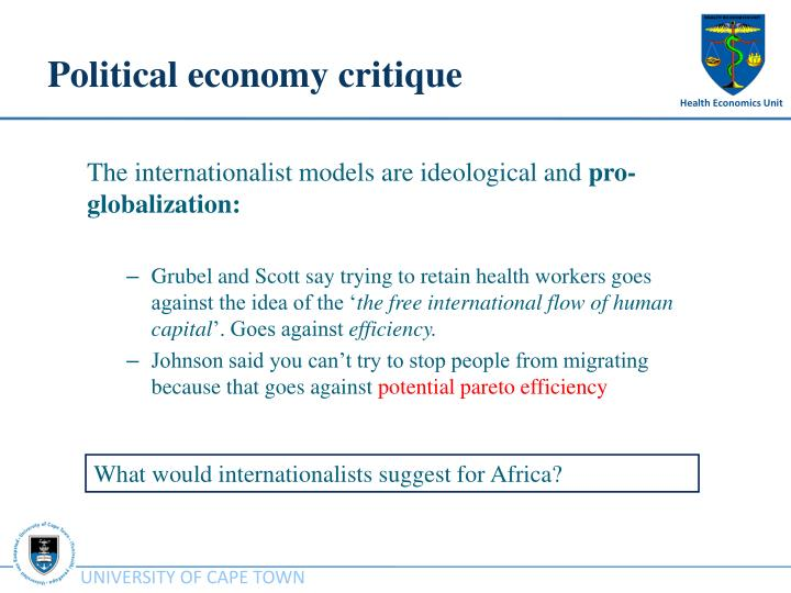Political economy critique