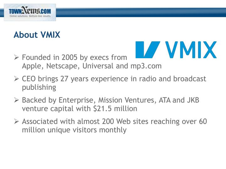About VMIX
