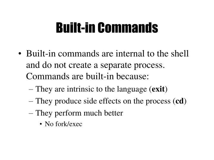 Built-in Commands
