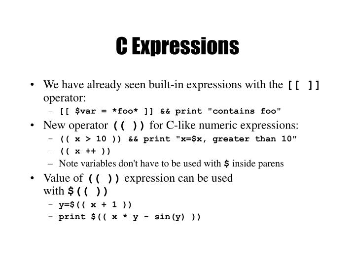 C Expressions
