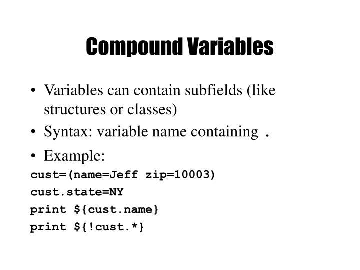 Compound Variables