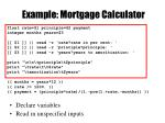 example mortgage calculator