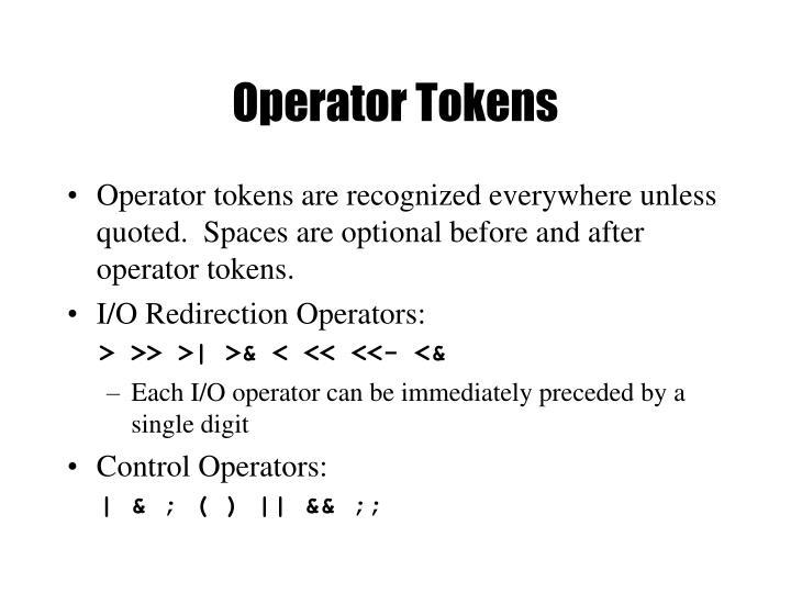 Operator Tokens