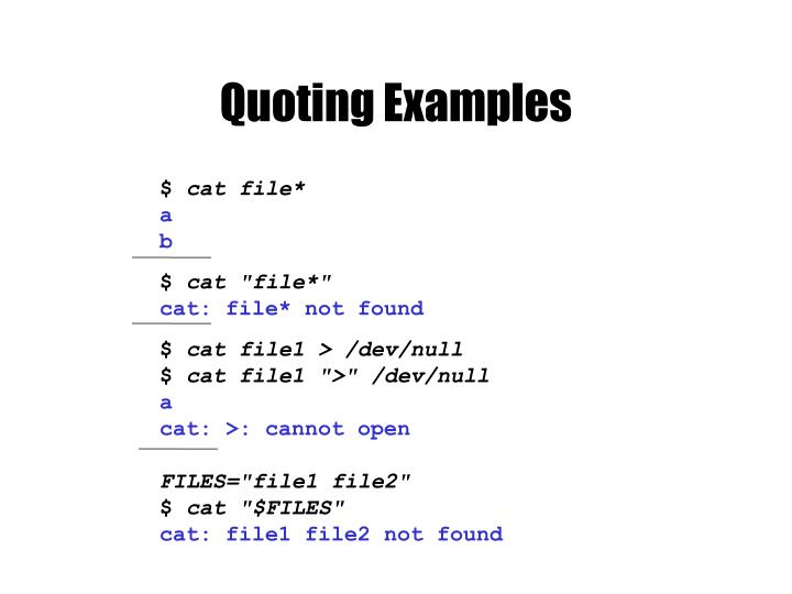 Quoting Examples