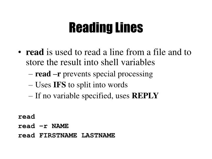 Reading Lines