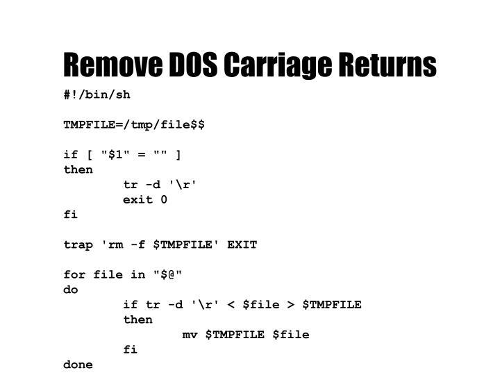 Remove DOS Carriage Returns