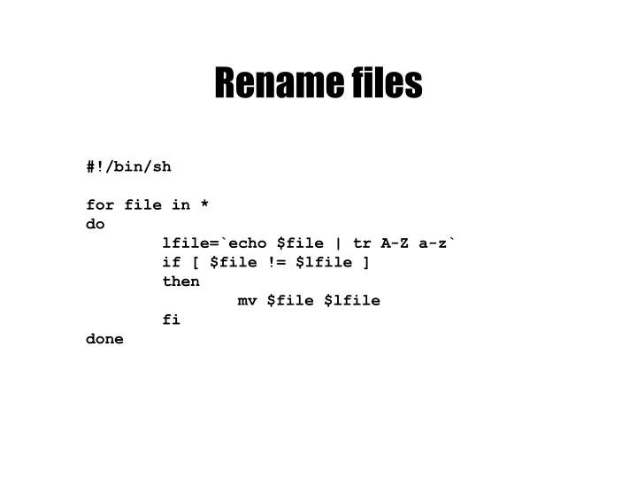 Rename files