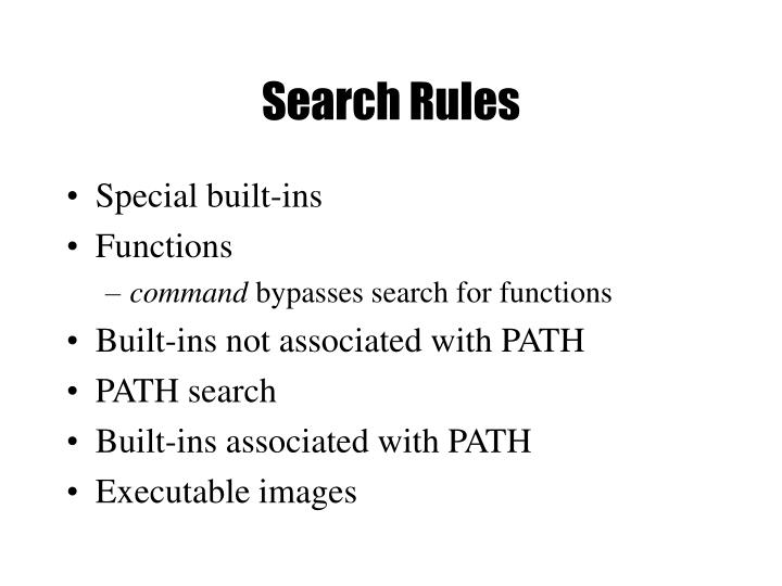 Search Rules
