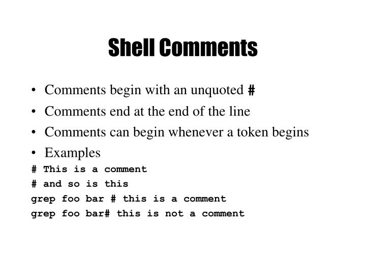 Shell Comments