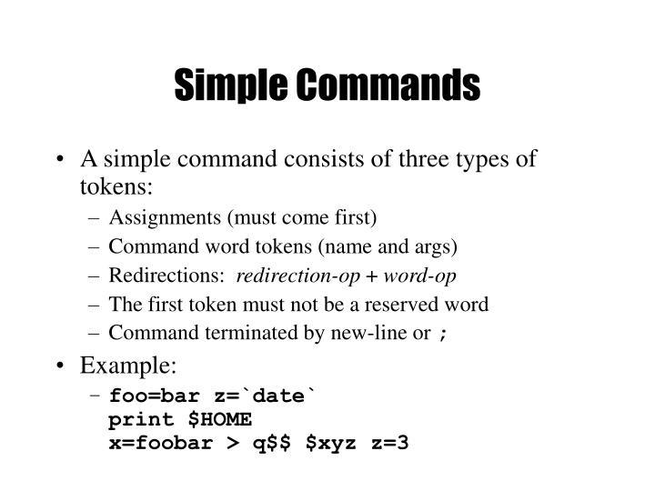 Simple Commands