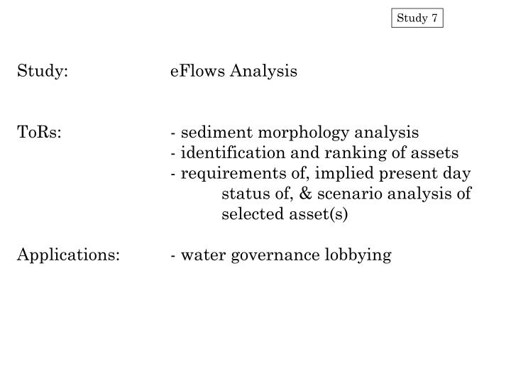 Study:		eFlows Analysis