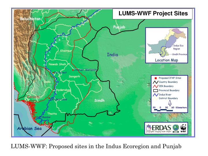 LUMS-WWF Project Sites