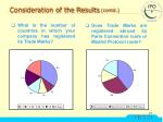 consideration of the results contd11