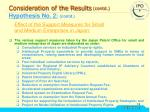 consideration of the results contd2