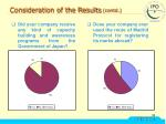 consideration of the results contd22
