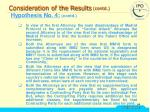consideration of the results contd28