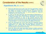 consideration of the results contd30