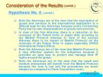 consideration of the results contd31