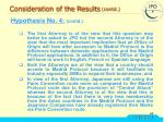 consideration of the results contd32