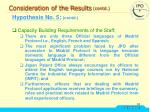 consideration of the results contd36