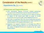 consideration of the results contd37