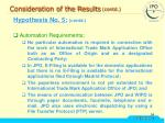 consideration of the results contd38