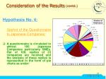 consideration of the results contd5
