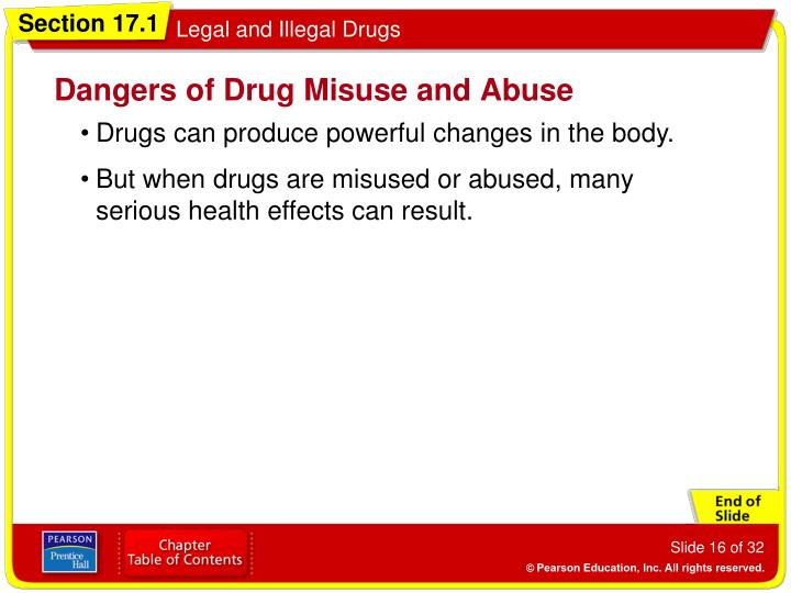 Dangers of Drug Misuse and Abuse
