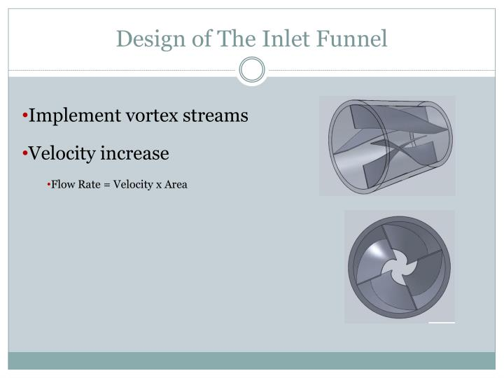 Design of The Inlet Funnel
