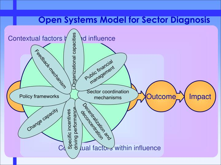 Open Systems Model for Sector Diagnosis