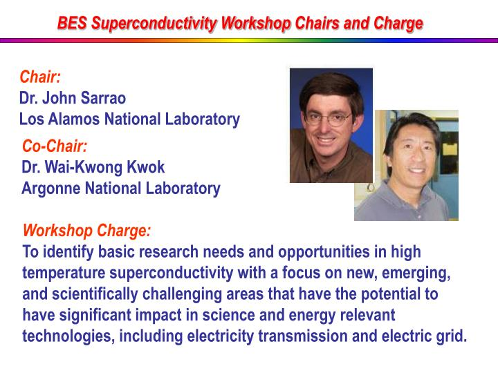 BES Superconductivity Workshop