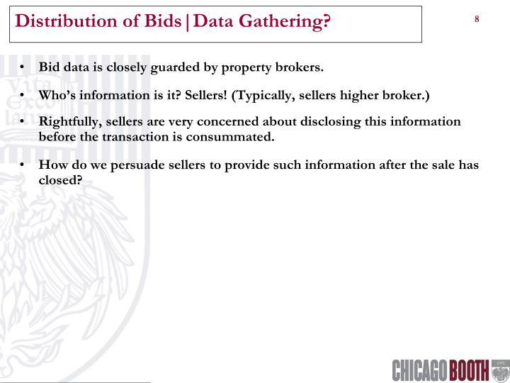 Distribution of Bids|Data Gathering?