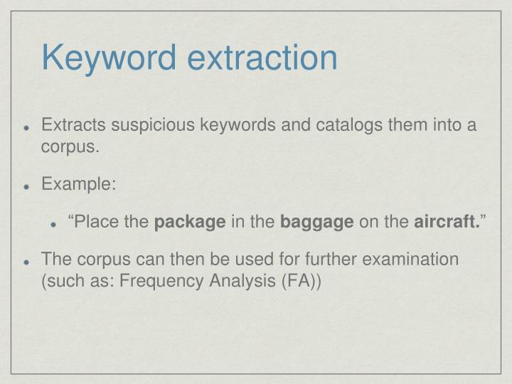 Keyword extraction