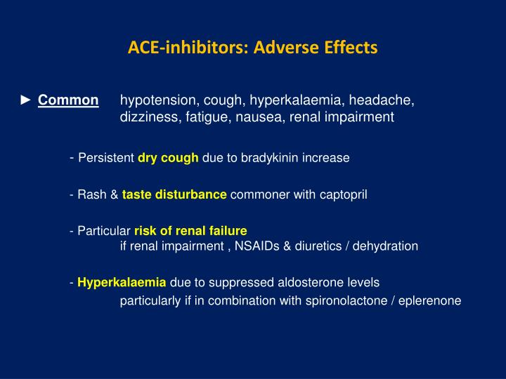 ACE-inhibitors: Adverse Effects