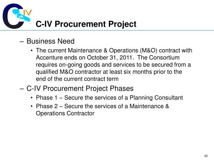 C-IV Procurement Project