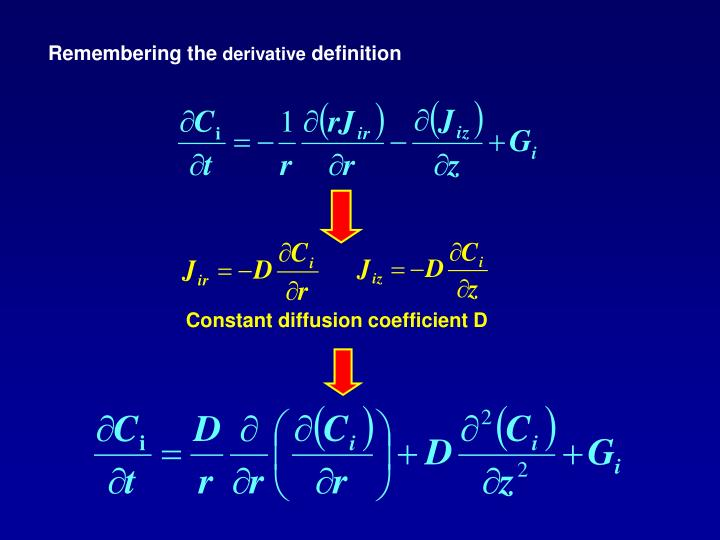 Constant diffusion coefficient D