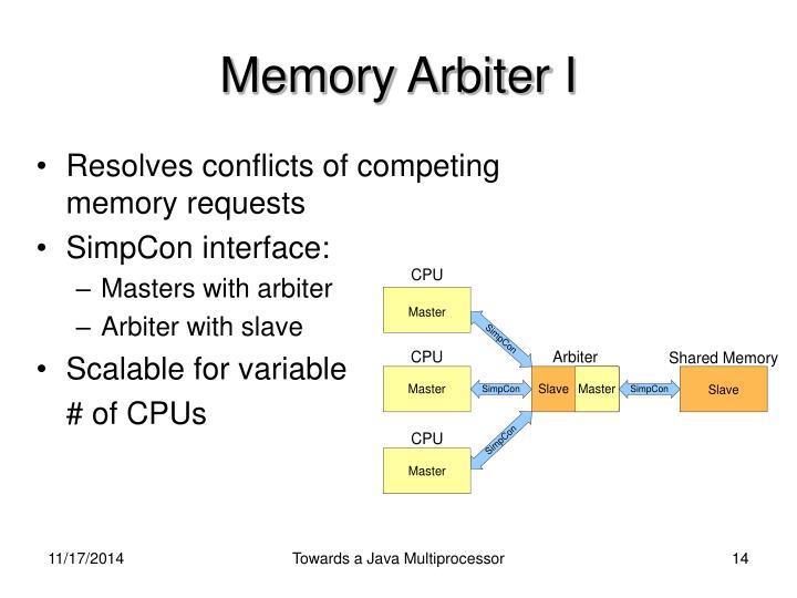 Memory Arbiter I
