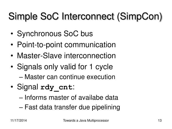 Simple SoC Interconnect