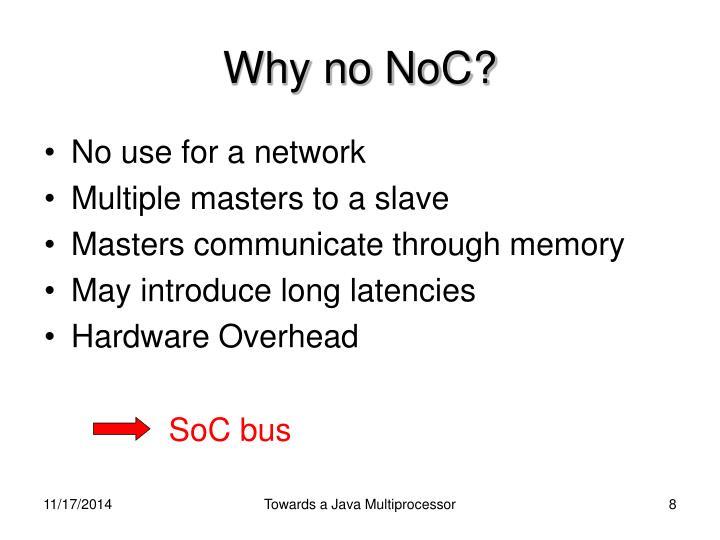 Why no NoC?