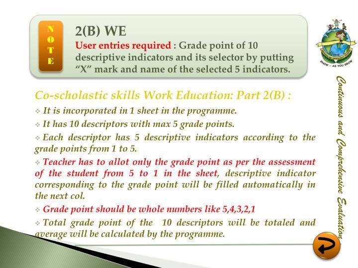 2(B) WE