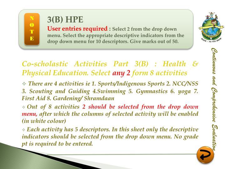 3(B) HPE