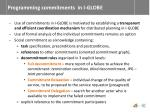 programming commitments in i globe