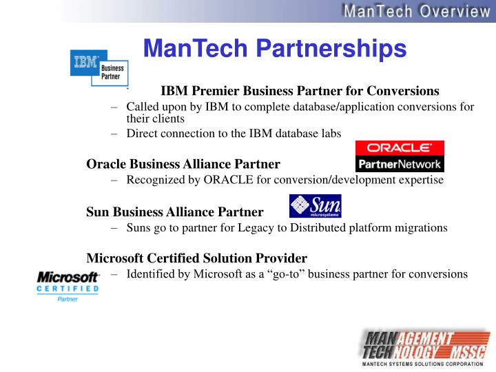 ManTech Partnerships