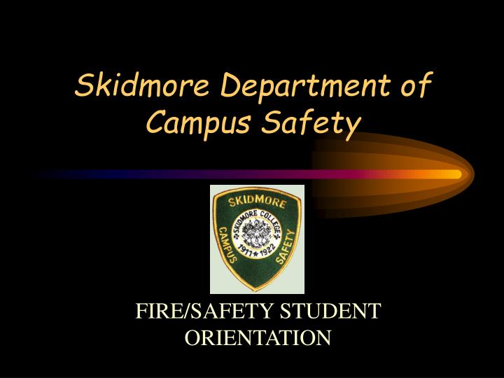Skidmore Department of Campus Safety