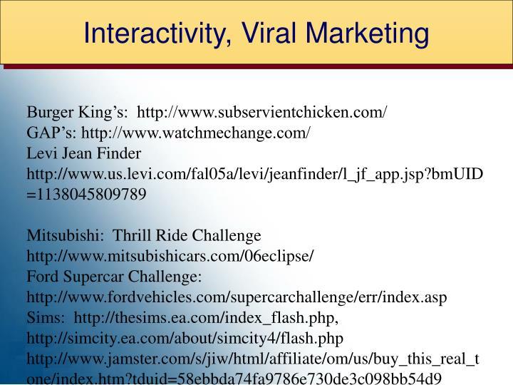 Interactivity, Viral Marketing