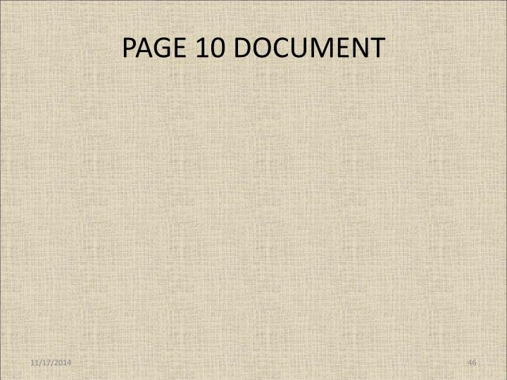 PAGE 10 DOCUMENT