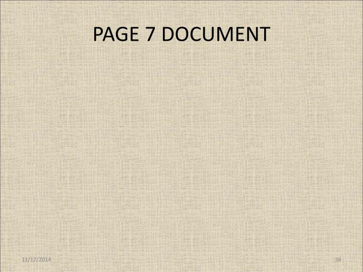 PAGE 7 DOCUMENT