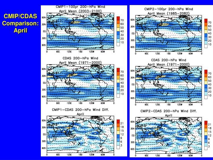 CMIP/CDAS Comparison: April