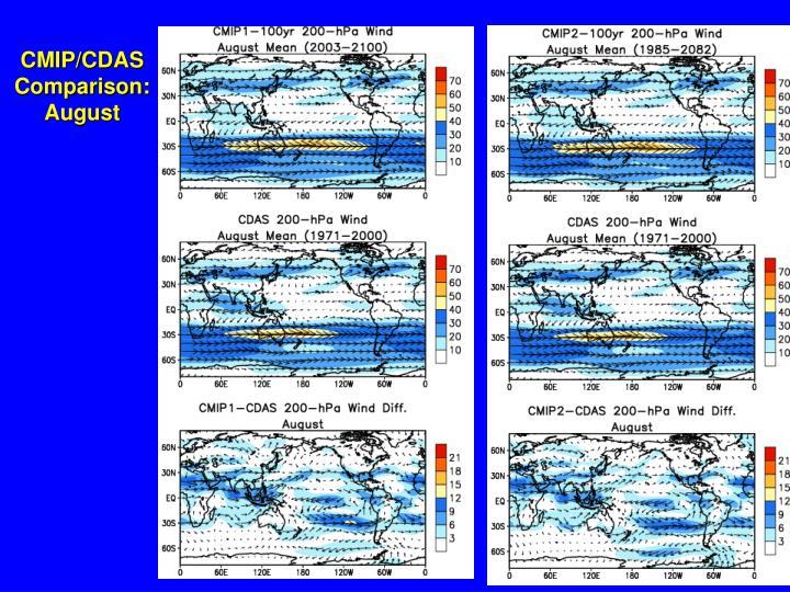 CMIP/CDAS Comparison: August