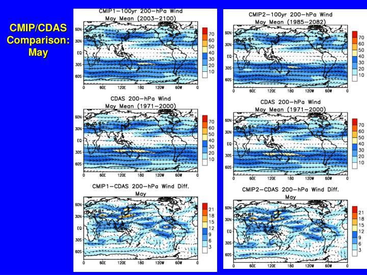 CMIP/CDAS Comparison: May